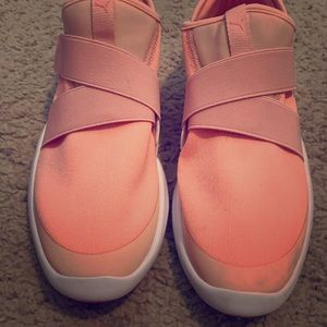 WORN ONCE! Puma slip on sneakers size 8.5